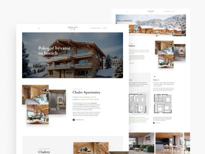 Chaletsdonovaly.sk - Slovak residential project homepage webdesign landing page developer architecture landing page architecture design chalets homepage apartment design apartments apartment residential complex residential cottage donovaly chalets oktodigital okto.digital oliverdul