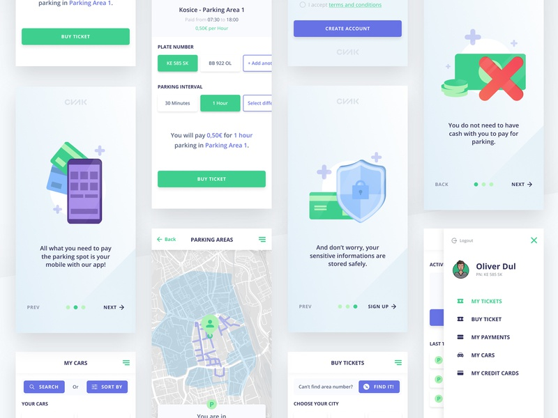 CVAK APP services product design redesign phone app isometric illustration design ux ui vector app illustration application parking app mobile app minimal car app white simple cvakapp cvak