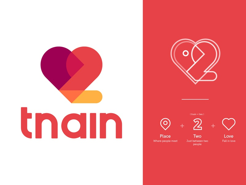 [Tnain] logo for dating app visual style guide app store icon place logo place dating app identity identity illustration icons lettering type mark app abstract love logo number two two logo heartlogo datelogo dateapp datingapp