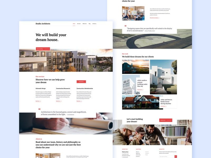 [ Web site ] Studio architect - homepage oliverdul 2019 architectural best website 2019 2019 trends architect website architecture website homepage clean minimal landing page agency website concept hero image project page grid design architecture design architecture studio architect
