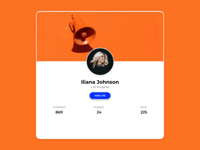 Profile  | Card | Web | design | Freelancer