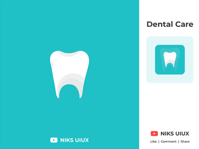 Dental Care Logo adobe icon identity branding adobe xd app adobexd ui design logodesign logo design