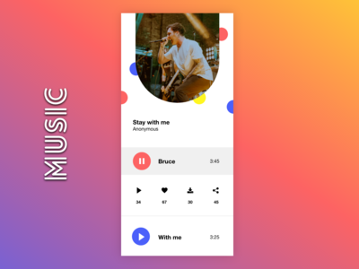 Music Player UI adobexd adobe xd adobe android app ios 10 music album music music art music app ui music app ux illustration graphic design design