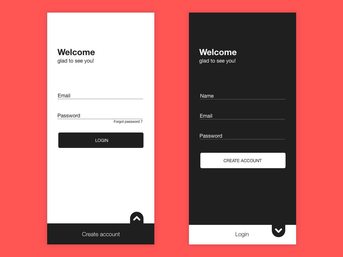 Login Signup UI design by Gajendra Singh Rathore on Dribbble