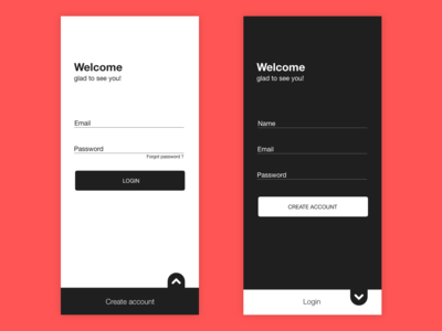 Login Signup UI design