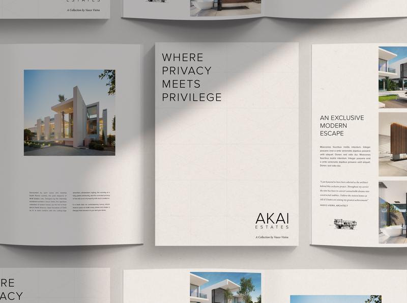AKAI Estates print website branding realestate