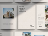 AKAI Estates print website branding realestate