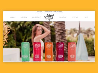 Miami Cocktail Co. Website ui  ux cocktail website