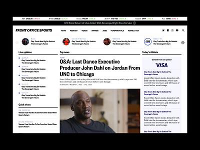 Front Office Sports - Website website editorial media news sports