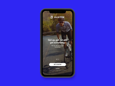 Bustle - Activity App adobexd branding running activity cycling app uiux