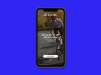 Bustle - Activity App adobexd branding running activity cycling app uiux