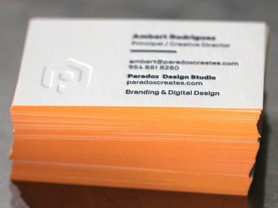 Paradox Business Cards