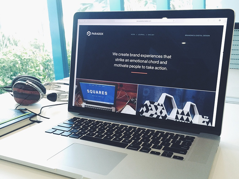 Paradox 2015 website portfolio