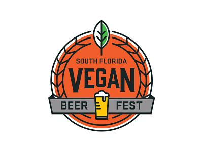 Vegan Beer Fest Color beer vegan badge
