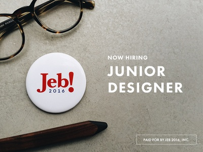 Hiring Junior Designer
