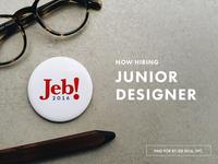 Hiring Junior Designer