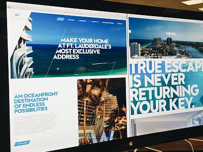 W Fort Lauderdale beach hotel parallax website w