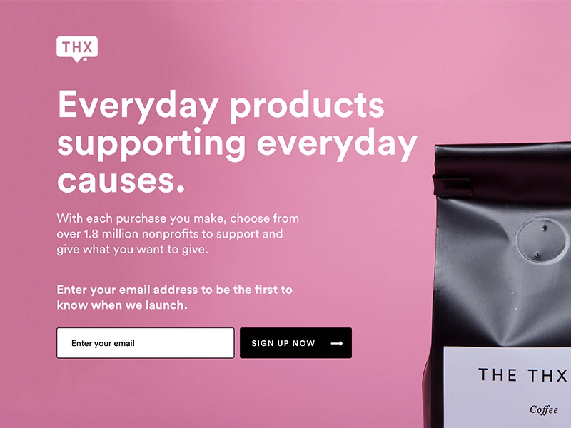Splash page Design coffee splash page signup email product launch