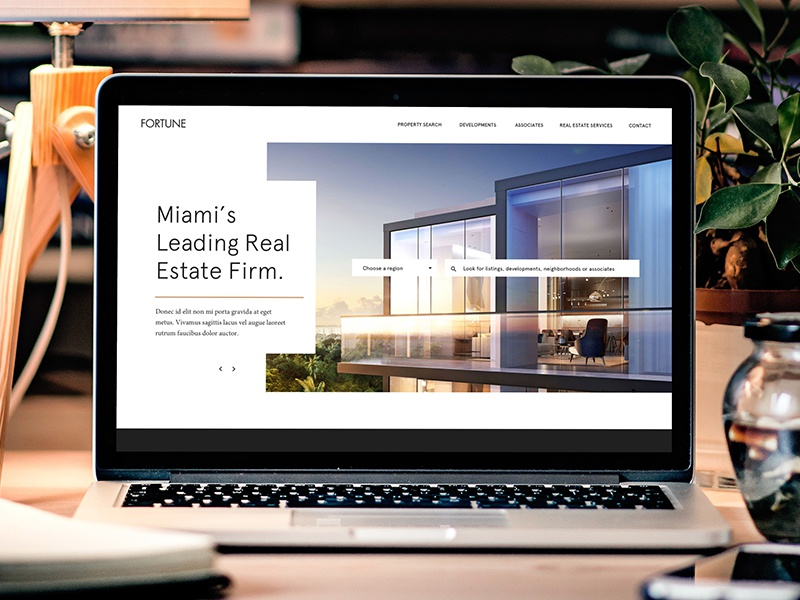 Fortune Website miami modern real estate website