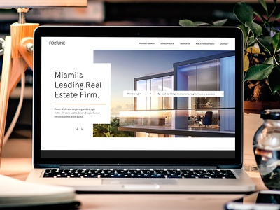 Fortune Website miami modern real estate website