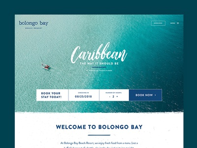 Bolongo Bay Dribbble virgin islands st thomas hotel website