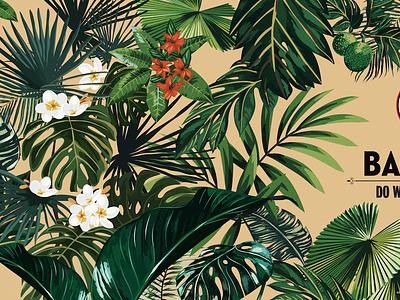 Bacardí Wall Wrap floral print