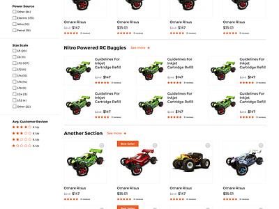 Hobby Warehouse Ecommerce Website Design hobby website ecommerce