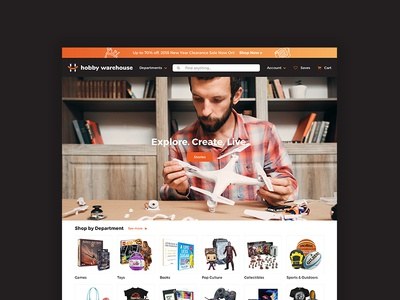 Hobby Warehouse Ecommerce Website Design hobby website ecommerce