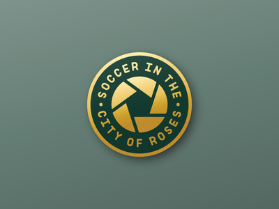 SOCCER IN THE CITY OF ROSES ball rose sports green and gold enamel pin pin football timbers soccer pnw northwest portland