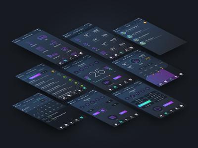 Rubik control app screens sketch interaction mobile ui ux