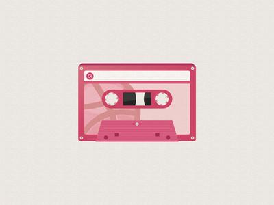 Dribbble Cassette audio oldies tape vintage dribbble k7 cassette