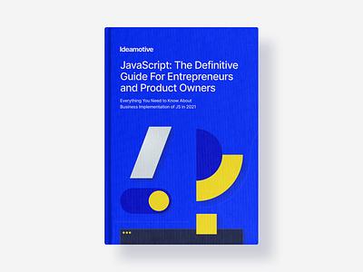 Java Script ebook Cover minimal simple shapes guide javascript java pillar ebook cover book cover book ideamotive