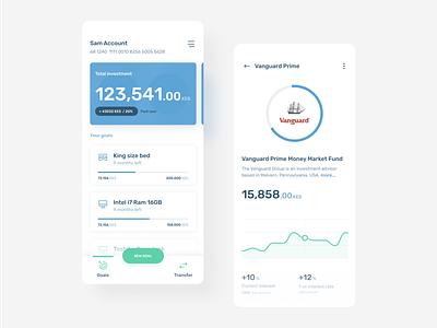Cashlet - The App for investing and managing savings savings money cashlet light white mobile app progress cards investment invest kenya african android finance financial