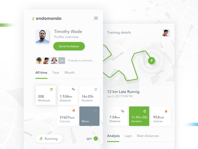 Endomondo Redesign Concept endomondo 10clouds sport fitness app dashboard mobile redesign ui running