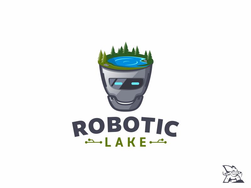 logo concept robotic lake