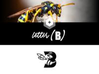 """wasp design, letter """"B"""""""