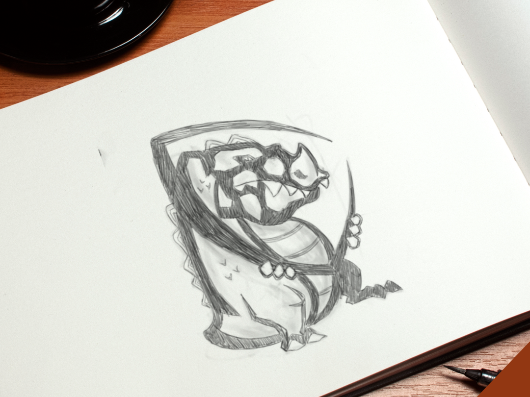 croc ui character branding icon graphic image creative logotype animal illustrator digitalart brand elesense vector logo design logoinspirations art draw illustration
