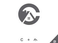 letter C + House