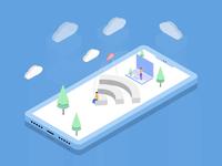 Affinity Designer尝试设计网路出错2.5D插画