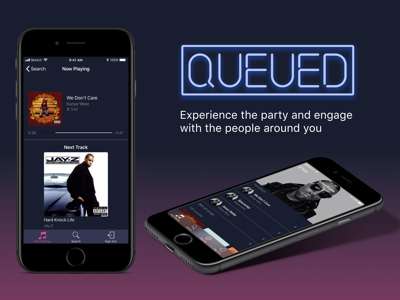 Queued Party Playlist Application ui music app ios app