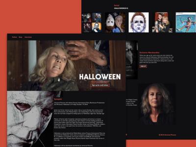 Halloween Movie Site marketing site movie trailer design challenge web design ux ui visual design landing page