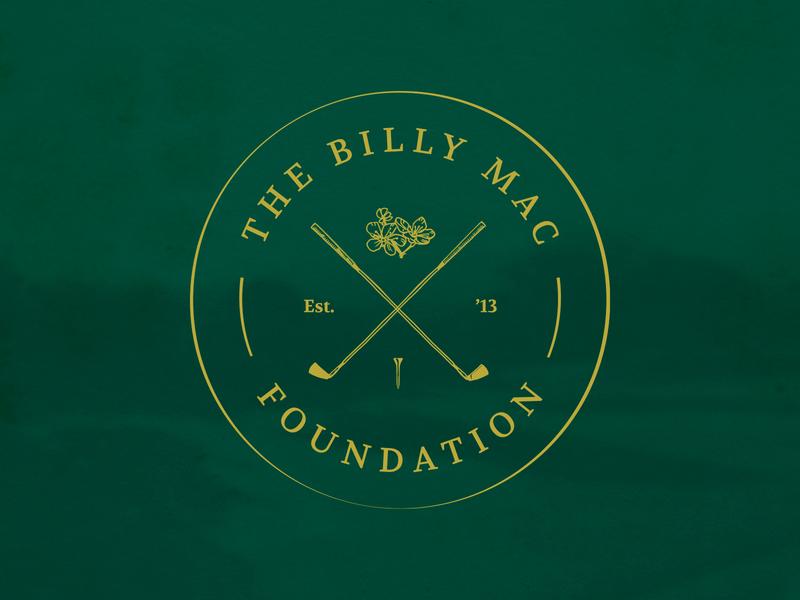 The Billy Mac Foundation Logo logo design golf design identity logo