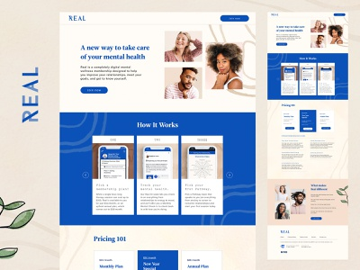 Real Therapy LP therapy graphic design ui design