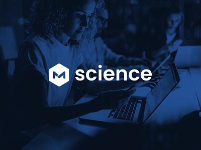 M science Logo graphic desgin idenity logo