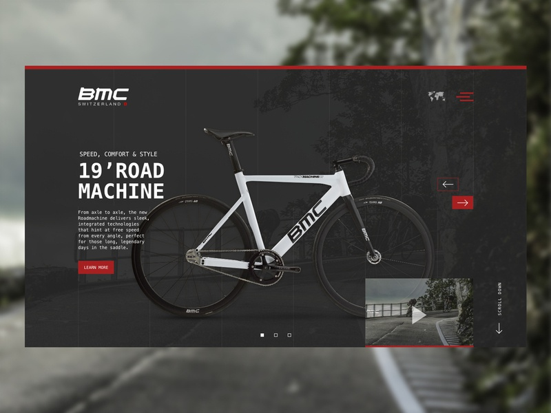 Daily UI 003 - Landing Page graphic design cycling webdesign landing page design bmc switzerland daily ui 003