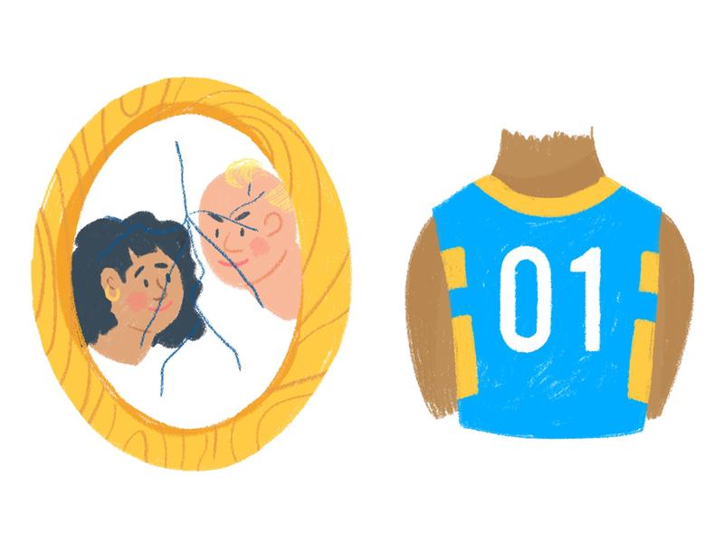 Teenage Stressors - Parent's Divorce, The Big Game digital basketball jersey sports parents photoshop texture illustration