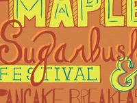 Lettering-Maple Sugarbush