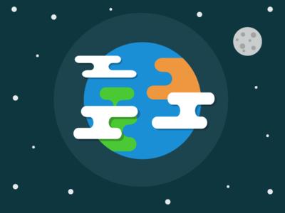 Earth vector logo day earth