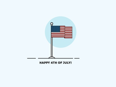 Happy 4th of July usa holiday flag