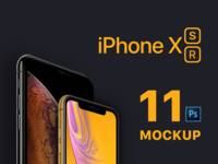 "New 2018 iPhones Mockup ""iPhone XS and iPhone XR"""